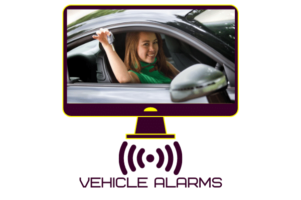 Vehicle alarm system fitted to car