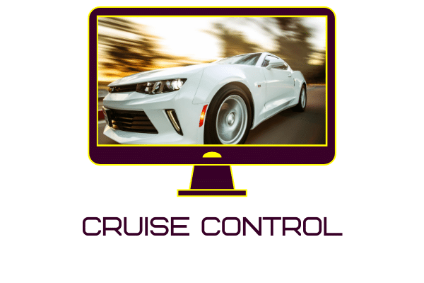 Car fitted with cruise control