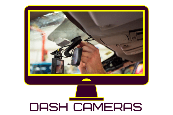 Image of a dash camera being fitted