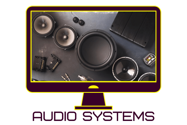 Image of car speakers and audio equipment for vehicles